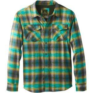 PRANA Asylum Flannel Long-Sleeve button down Shirt